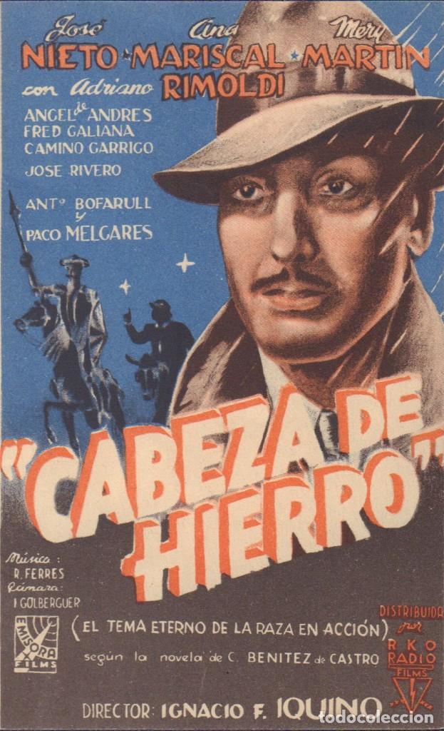 PROGRAMA DOBLE DE CABEZA DE HIERRO (1944) - CINE AVENIDA DE ALCOY (Cine - Folletos de Mano - Clásico Español)