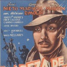 Flyers Publicitaires de films Anciens: PROGRAMA DOBLE DE CABEZA DE HIERRO (1944) - CINE AVENIDA DE ALCOY. Lote 210220708
