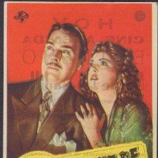Cine: PROGRAMA SENCILLO DE NOCHE DE PESADILLA (1942) - CINE AVENIDA DE ALCOY. Lote 210223100