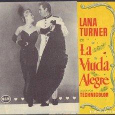 Cine: PROGRAMA DOBLE DE LA VIUDA ALEGRE (1952) - CINE AVENIDA DE ALCOY. Lote 210225143