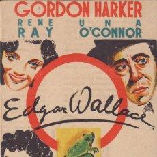 Cine: PROGRAMA DOBLE DE LA VUELTA DEL RANA (1938) - TEATRO CIRCO DE ALCOY. Lote 210227148