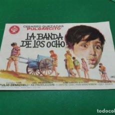 Cine: PROGRAMA DE MANO ORIG - LA BANDA DE LOS OCHO - CINE DE ZARAGOZA. Lote 210240338
