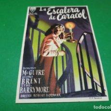Cine: PROGRAMA DE MANO ORIG DOBLE - LA ESCALERA DE CARACOL- CINE DE NAJERA. Lote 210245598