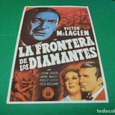 Cine: PROGRAMA DE MANO ORIG - LA FRONTERA DE LOS DIAMANTES- CINE DE REUS. Lote 210246692