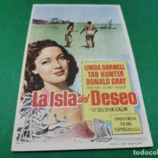 Cine: PROGRAMA DE MANO ORIG - LA ISLA DEL DESEO - CINEMA COCA. Lote 210247016