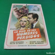 Cine: PROGRAMA DE MANO ORIG - LA ISLA DE LOS HOMBRES PERDIDOS- CINE DE VALENCIA. Lote 210247076