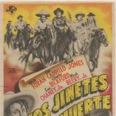 Flyers Publicitaires de films Anciens: PROGRAMA DE CINE: LOS JINETES DE LA MUERTE PC-4628. Lote 210271562