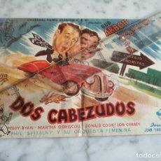 Cine: FOLLETO DE MANO DOBLE - DOS CABEZUDOS BUD ALBBOTT LOU COSTELO - SALON TARREGA VILLARREAL (CASTELLON). Lote 210283550