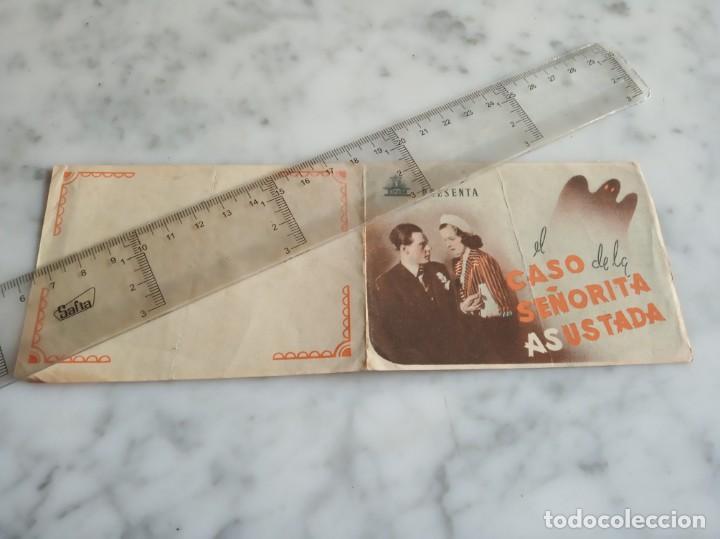FOLLETO DE MANO DOBLE - EL CASO DE LA SEÑORITA ASUSTADA MARIOSGORING (Cine - Folletos de Mano - Suspense)