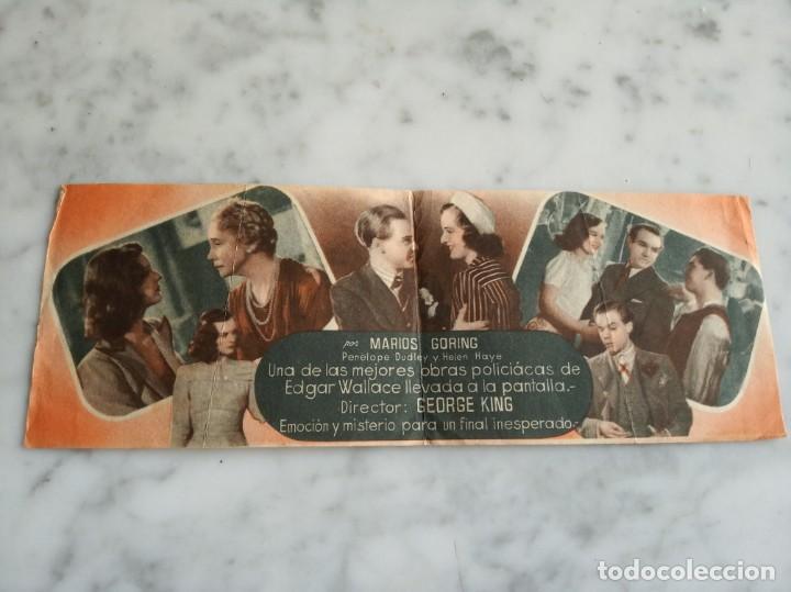 Cine: folleto de mano doble - el caso de la señorita asustada mariosgoring - Foto 2 - 210286842