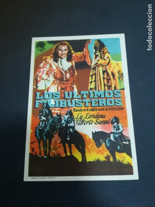 PROGRAMA DE CINE. C/P. LOS ULTIMOS FILIBUSTEROS. NUEVO CINEMA SAN MIGUEL. 1950 (Cine - Folletos de Mano - Aventura)