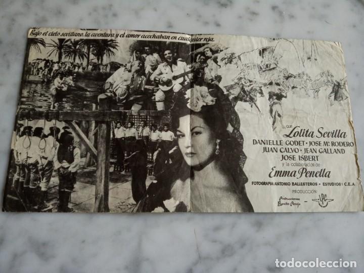 Cine: folleto de mano doble - aventuras del barbero de sevilla luis mariano - teatro alcazar nules castel - Foto 2 - 210299181