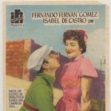 Cine: PROGRAMA DE CINE: EL SISTEMA PELEGRIN PC-4644. Lote 210301091