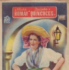 Cine: PROGRAMA DOBLE DE EL CAMINO DEL AMOR (1943) - TEATRO CIRCO DE ALCOY. Lote 210315731