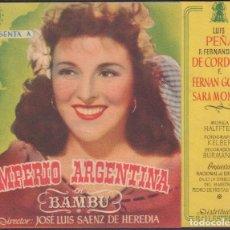 Cine: PROGRAMA DOBLE DE BAMBÚ (1945) - TEATRO CIRCO DE ALCOY. Lote 210318002