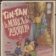 Cine: PROGRAMA SENCILLO DE LA MARCA DEL ZORRILLO (1950) - TEATRO CIRCO DE ALCOY. Lote 210319258