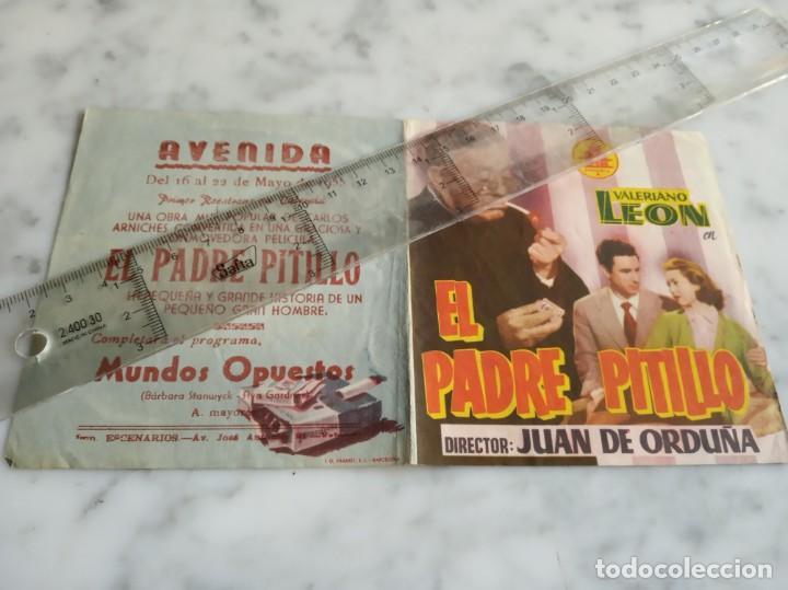 FOLLETO DE MANO DOBLE - EL PADRE PITILLO VALERIANO LEON AURORA REDONDO - AVENIDA 1955 (Cine - Folletos de Mano - Clásico Español)