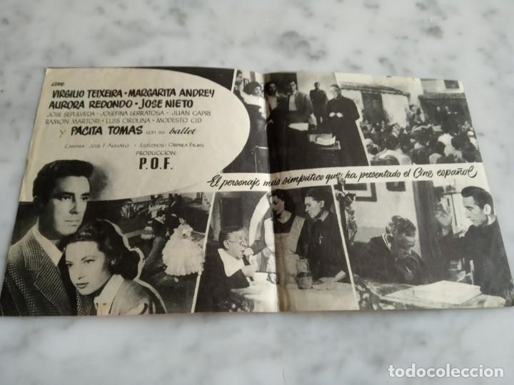 Cine: folleto de mano doble - el padre pitillo valeriano leon aurora redondo - avenida 1955 - Foto 2 - 210353516