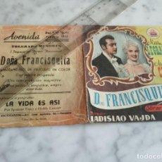 Cine: FOLLETO DE MANO DOBLE - DOÑA FRANCISQUITA MIRTHA LEGRAND ARMANDO CALVO - AVENIDA 1953. Lote 210353520