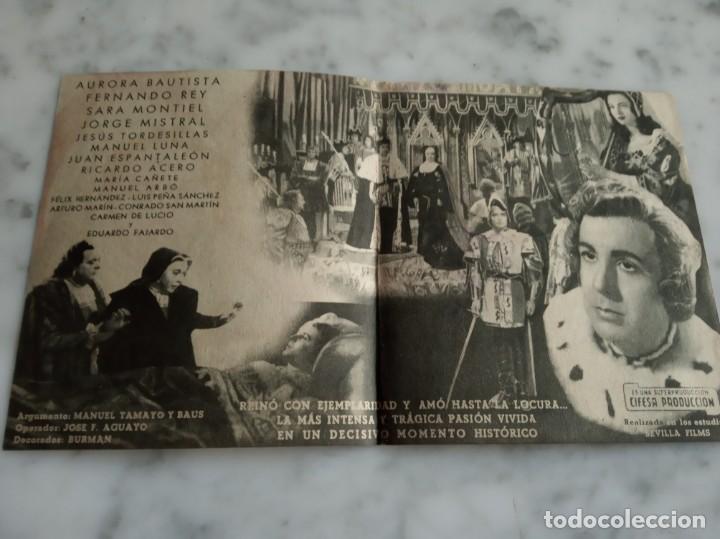 Cine: folleto de mano doble - locura de amor aurora bautista fernando rey - salon romea 1948 castellon - Foto 2 - 210353685