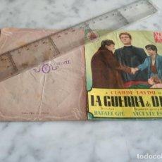 Cine: FOLLETO DE MANO DOBLE LA GUERRA DE DIOS -CLAUDE LAYDU FRANCISCO RABAL -TEATRO ALCAZAR NULES CASTELL. Lote 210353715