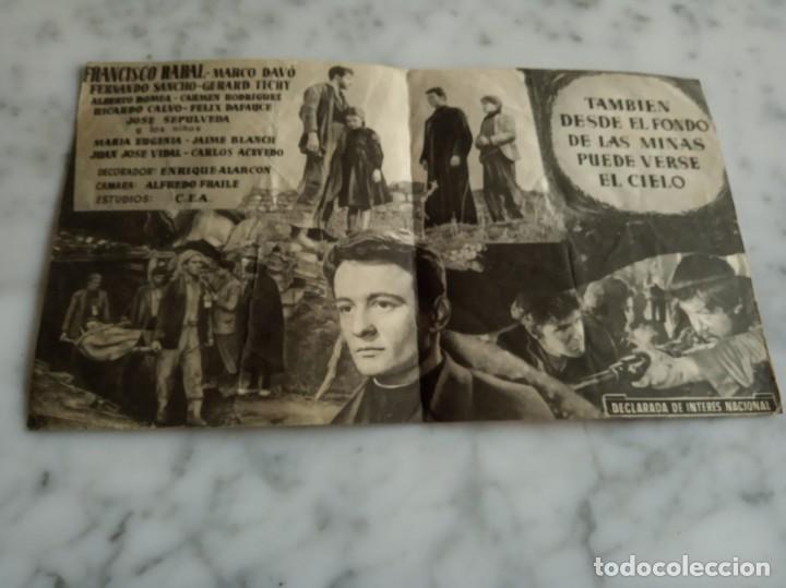 Cine: folleto de mano doble la guerra de dios -claude laydu francisco rabal -teatro alcazar nules castell - Foto 2 - 210353715