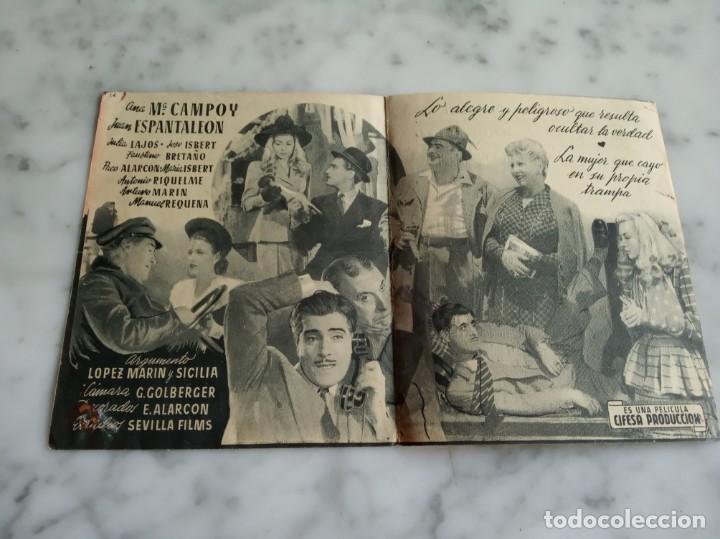 Cine: folleto de mano-un hombre de negocios-antonio casal josita hernan -salon tarrega villarreal 1946 - Foto 2 - 210353753