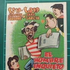 Cine: EL HOMBRE INQUIETO. B1. Lote 210357205