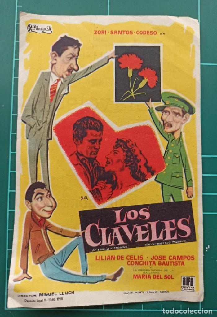 LOS CLAVELES. B1 (Cine - Folletos de Mano - Clásico Español)