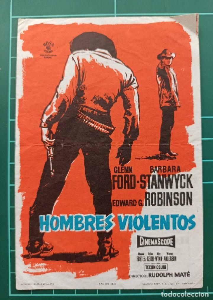 HOMBRES VIOLENTOS. B1 (Cine - Folletos de Mano - Westerns)