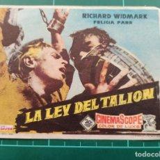 Cine: LA LEY DEL TALIÓN. B1. Lote 210358130