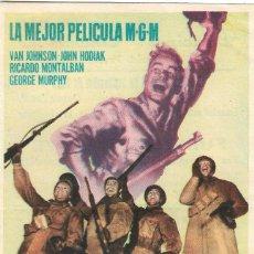 Cine: PN - PROGRAMA DE CINE - FUEGO EN LA NIEVE - VAN JOHNSON - PRINCIPAL CINEMA (MÁLAGA) - 1953.. Lote 210375420