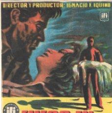 Cine: PN - PROGRAMA DE CINE - FUEGO EN LA SANGRE - ANTONIO VILAR, MARISA DE LEZA - PRINCIPAL CINEMA 1954. Lote 210375885