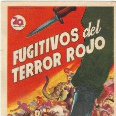 Cine: PN - PROGRAMA DE CINE - FUGITIVOS DEL TERROR ROJO - FREDRIC MARCH, TERRY MOORE - CINE GOYA (MÁLAGA). Lote 210379480