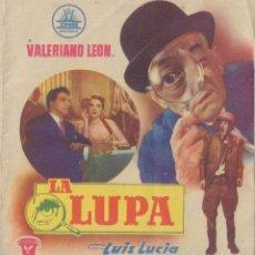 Cine: PROGRAMA DOBLE DE LA LUPA (1955), CON VALERIANO LEÓN, ANTONIO RIQUELME Y RAFAEL DURÁN. Lote 210395531