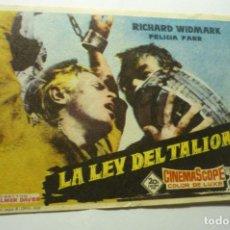 Cine: PROGRAMA CINE LA LEY DEL TALION.-RICHARD WIDMARK. Lote 210428428