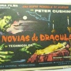Cine: PROGRAMA LAS NOVIAS DE DRACULA - PETER CUSHING PUBLICIDAD. Lote 210429137