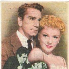 Cine: PN - PROGRAMA DE CINE - GARDENIA AZUL - ANNE BAXTER, RICHARD CONTE - PRINCIPAL CINEMA (MÁLAGA) 1954. Lote 210436277