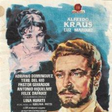 Folhetos de mão de filmes antigos de cinema: PN - PROGRAMA DE CINE - GAYARRE - ALFREDO KRAUS, LUZ MÁRQUEZ - CINE ECHEGARAY (MÁLAGA) - 1960.. Lote 210436522