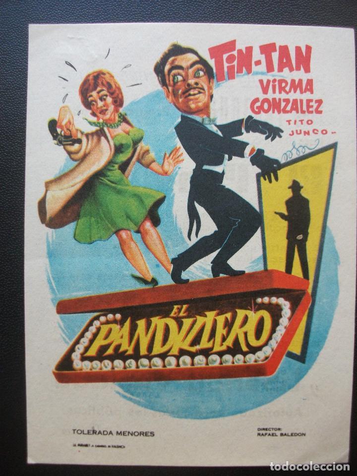 EL PANDILLERO, TIN TAN, CINE TRAJANO DE MERIDA, 1963 (Cine - Folletos de Mano - Comedia)
