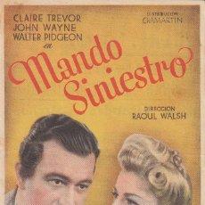 Cine: PROGRAMA SENCILLO DE MANDO SINIESTRO (1940) - CINE IDEAL DE ALAQUÀS. Lote 210440742