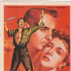 Cine: PN - PROGRAMA DE CINE - GUERRILLEROS EN FILIPINAS - TYRONE POWER - PRINCIPAL CINEMA (MÁLAGA) - 1953.. Lote 210444262