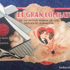 Cine: PROGRAMA DE MANO, FOLLETO DE CINE TROQUELADO CON MOVIMIENTO. EL GRAN COMBATE.1928. GARY COOPER.. Lote 210452006