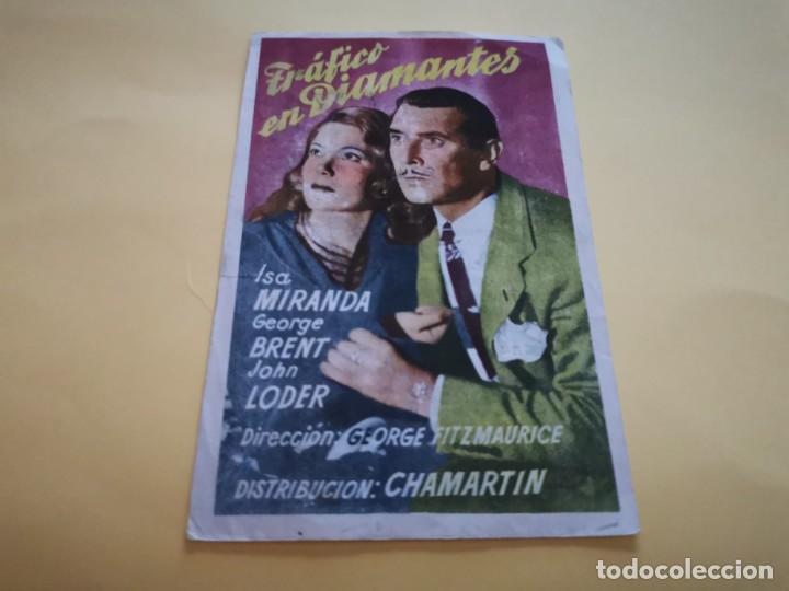 PROGRAMA DE MANO ORIG - TRÁFICO DE DIAMANTES- CINE ROBLEDO (Cine - Folletos de Mano - Drama)