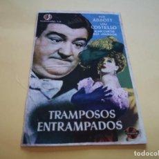 Cine: PROGRAMA DE MANO ORIG - TRAMPOSOS ENTRAMPADOS- CINE VICTORIA. Lote 210458882