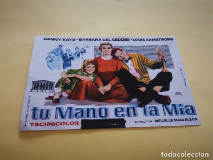 PROGRAMA DE MANO ORIG - TU MANO EN LA MÍA - CINE MARIOLA (Cine - Folletos de Mano - Comedia)