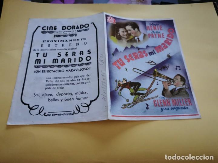 PROGRAMA DE MANO ORIG DOBLE - TÚ SERÁS MI MARIDO - CINE DE ZARAGOZA (Cine - Folletos de Mano - Comedia)