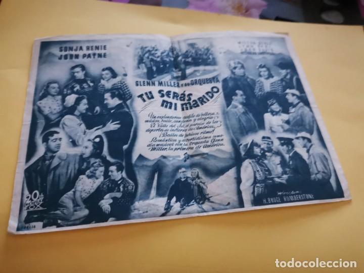 Cine: PROGRAMA DE MANO ORIG DOBLE - TÚ SERÁS MI MARIDO - CINE DE SAN FERNANDO - Foto 2 - 210459196