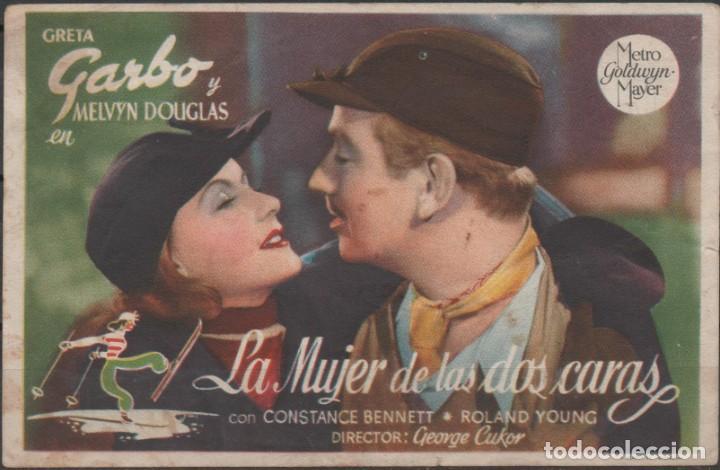 PROGRAMA DE MANO DE LA PELÍCULA LA MUJER DE DOS CARTAS EL TEATRO PRINCIPAL DE REINOSA DEL AÑO 1945 (Cine - Folletos de Mano - Comedia)