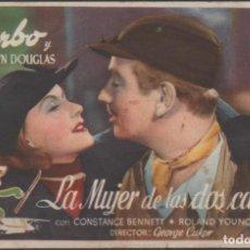 Cine: PROGRAMA DE MANO DE LA PELÍCULA LA MUJER DE DOS CARTAS EL TEATRO PRINCIPAL DE REINOSA DEL AÑO 1945. Lote 210459531